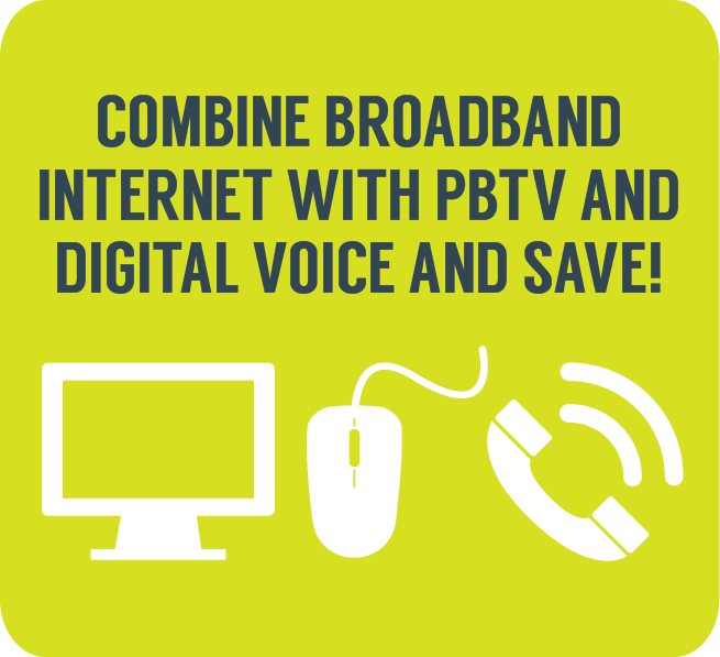 Combine Broadband with TV and Telephone and save